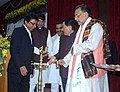 Radha Mohan Singh lighting the inaugural lamp at the National Conference on Sustainable Agriculture and Farmers Welfare, in Gangtok, Sikkim. The Chief Minister of Sikkim.jpg