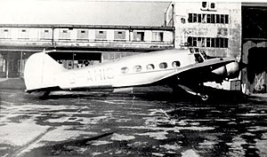Railway Air Services - RAS Avro Anson at Manchester (Ringway) in 1946 operating the schedule to Belfast