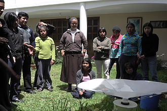 Rainwater harvesting - Presentation of RainSaucer system to students at orphanage in Guatemala
