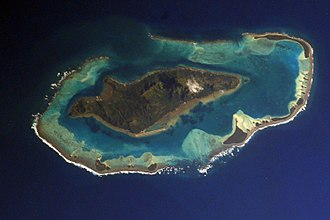 Raivavae - NASA picture of Raivavae island