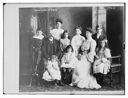 Diaz's Vice President, Ramon Corral and family dressed in European-style fashions Ramon Corral and family.jpg