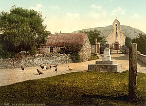 Hall Caine - The centre of Maughold Village, Isle of Man