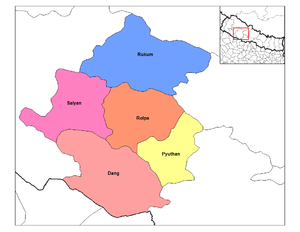 Rapti Zone - Image: Rapti districts