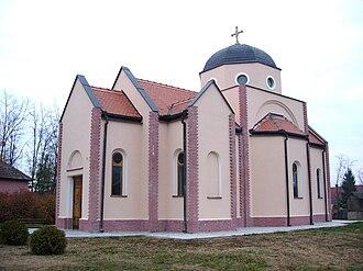 Rastina - The new Orthodox church.
