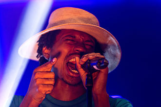 Raury - Raury at the Melt! Festival in 2015.