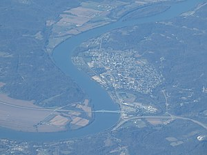 Ravenswood, West Virginia - Aerial view of the city
