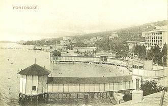 Portorož - Portorož's bath in 1915