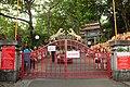 Red metal grill gates, Haw Par Villa (14607312760).jpg