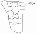 Regionen in Namibia schwarz-weiß.png