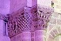 Reich geschmückt, die romanische Apsis (12. Jahrhundert) der Kirche Saint-Vivien-de-Medoc. 20.jpg