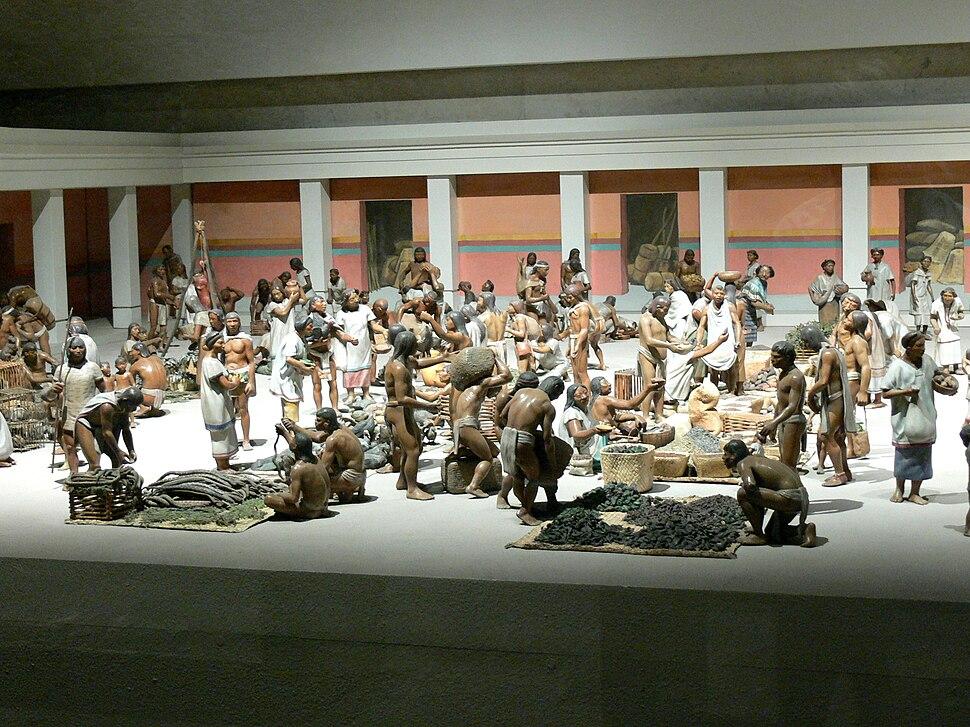 Rekonstruktion Aztekenmarkt 1