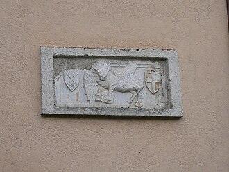 Gian Giacomo Medici - Relief depicting the lion of San Marco