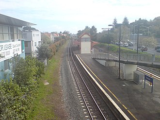 Remuera railway station - Looking northwest.