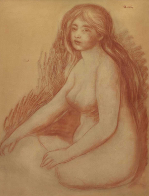 Blonde Bather - Image: Renoir, Bather, 1880 1881