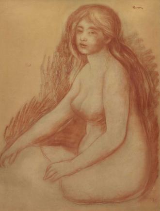 Blonde Bather - Image: Renoir, Bather, 1880 1881