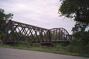 Republican River Pegram Truss - View of the bridge from the northeast, evening of August 19, 2006.
