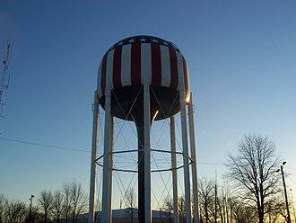 Bowling Green, Kentucky - The B.G.M.U. Water Tower atop Reservoir Hill is a local landmark visible from many parts of Bowling Green.