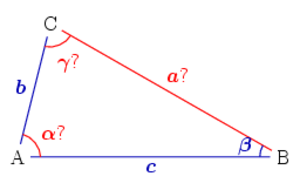 Solution of triangles - Two sides and a non-included angle given
