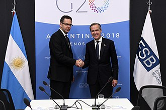Guido Sandleris - Sandleris with the Governor of the Bank of England, Mark Carney in Buenos Aires, November 2018.