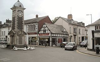 Rhayader Town in Wales