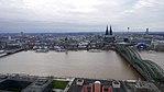 Rheinhochwasser 2018 in Köln KölnTriangel 01.jpg