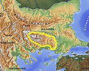 Rhodopen Balkan topo de