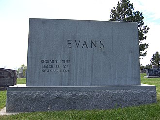 Richard L. Evans - Grave marker of Richard L. Evans (front).