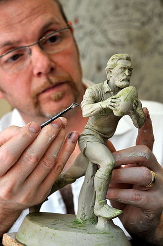 Grogg - Richard working on Action Ray Gravell
