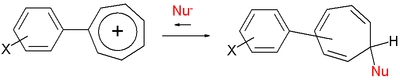 Richie equation tropylium ion reactions