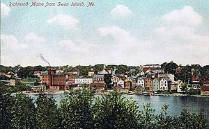 Richmond, Maine - Richmond from Swan Island in 1908
