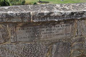 Richmond Bridge (Tasmania) - Another historic marker set into the bridge