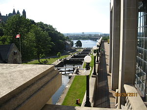 Rideau Falls - Rideau Canal Locks to Ottawa River