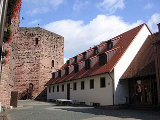 Rieneck Castle - A view from inside Rieneck Castle