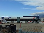 Right side view of a new New Flyer XDE60 bus for the Provo Orem MAX, Dec 17.jpg