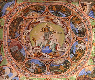 Rila Monastery - Image: Rila Monastery (Рилски манастир) fresco 2