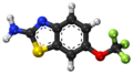 Riluzole ball-and-stick model.png