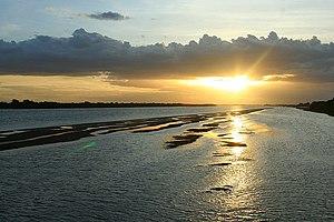 Rio Piranhas-Açu em Macau, estado do Rio Grande do Norte.