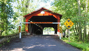 East Chillisquaque Township, Northumberland County, Pennsylvania - The Rishel Covered Bridge in July 2015.