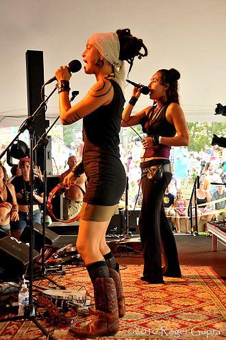 Chloe Smith (musician) - Rising Appalachia at FloydFest 9 in July 2010