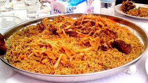 Riz gras - Image: Riz gras rouge à la viande de boeuf