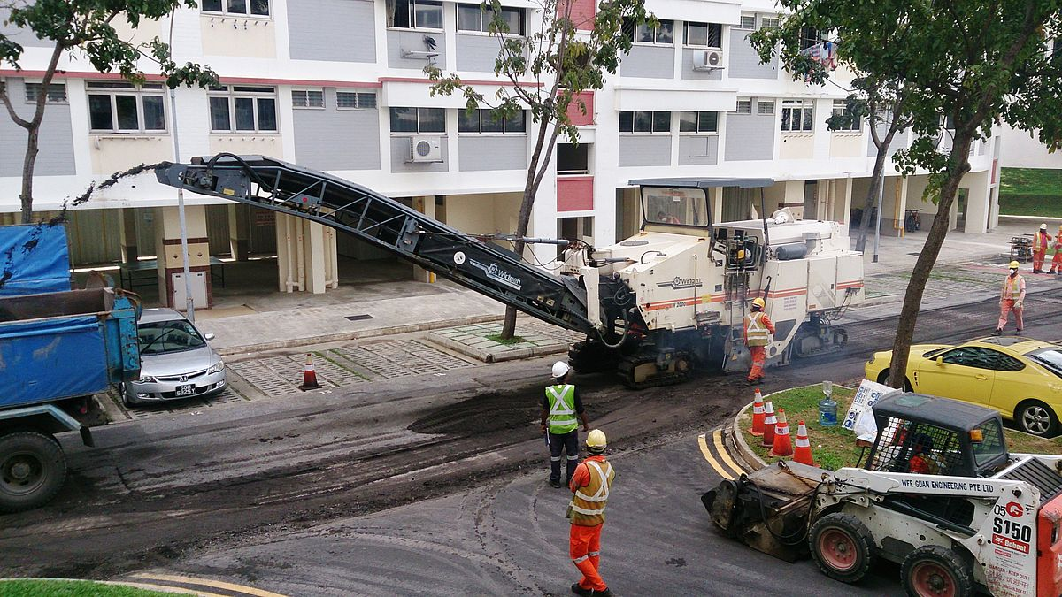 Pavement milling - Wikipedia