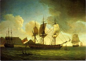 William Fehr - Image: Robert Dodd English ships in Table Bay 1787