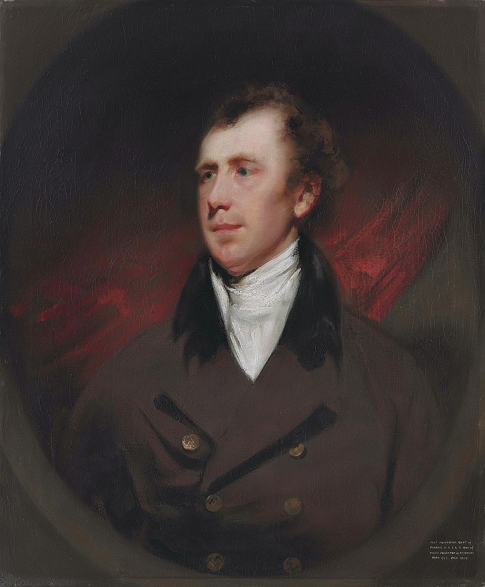 Robert Fullerton, by George Chinnery