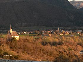 Vue du village en avril 2005.