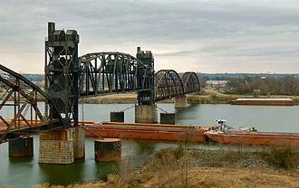 Arkansas River Trail - Rock Island railroad bridge in 2006.