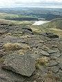 Rocks and reservoir, Kinder Scout - geograph.org.uk - 222419.jpg