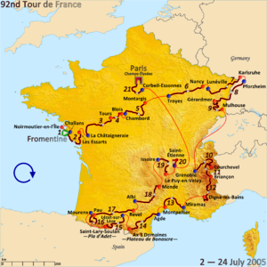 2005 Tour de France - Route of the 2005 Tour de France