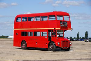 Routemaster RM1001 (1 CLT), 2010 North Weald bus rally.jpg