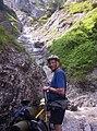 Rudolf von Waldenfels crossing Alps in bicycle.jpg