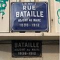 Rue Bataille (Lyon) deux plaques.jpg
